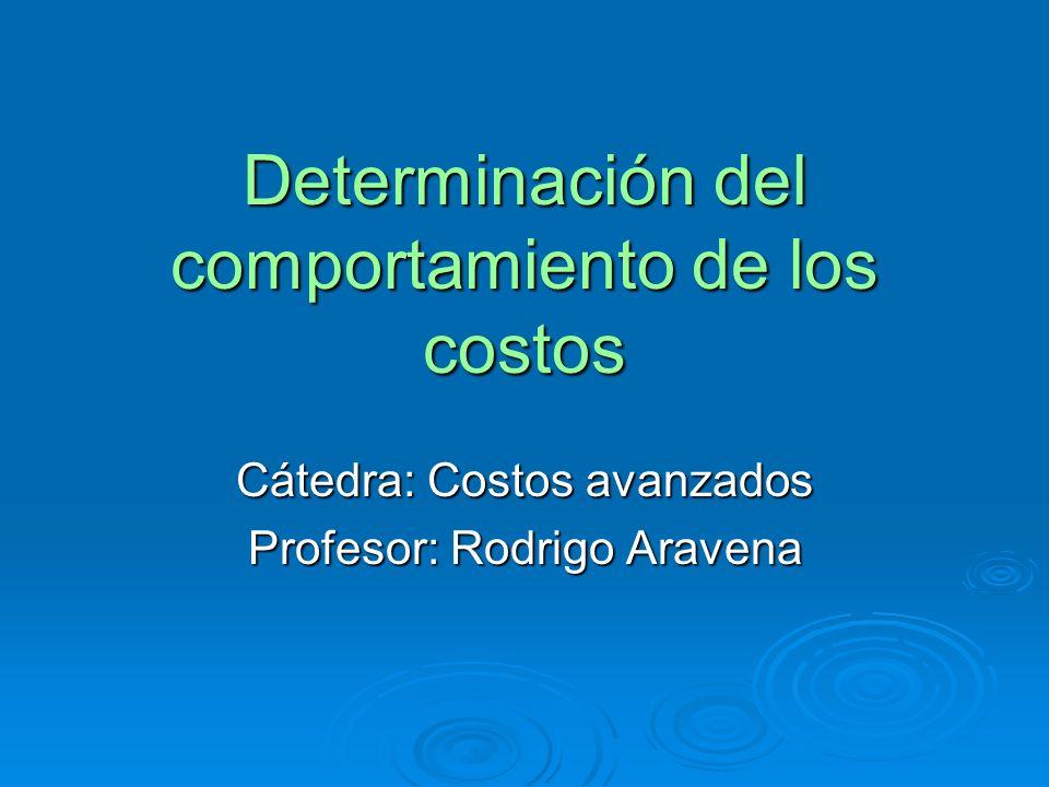 Determinación del comportamiento de los costos