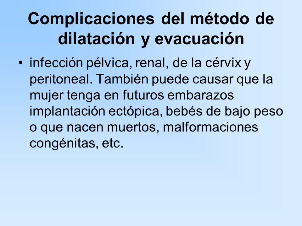 Complicaciones del método de dilatación y evacuación