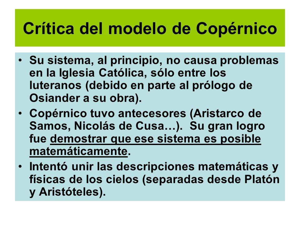 Crítica del modelo de Copérnico
