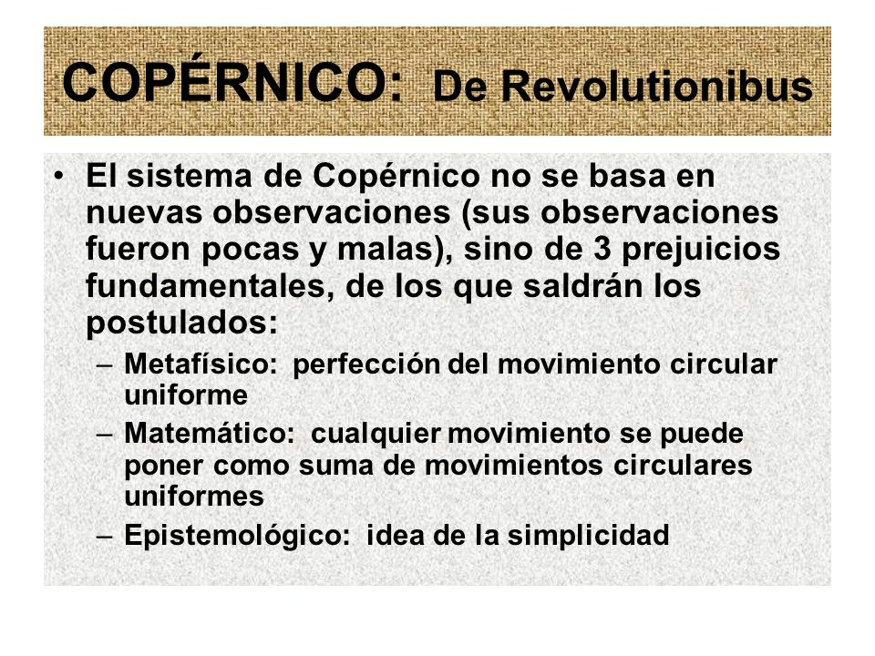 COPÉRNICO: De Revolutionibus