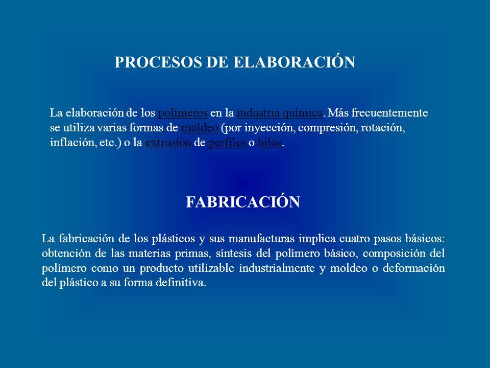 PROCESOS DE ELABORACIÓN