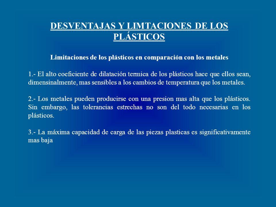 DESVENTAJAS Y LIMTACIONES DE LOS PLÁSTICOS