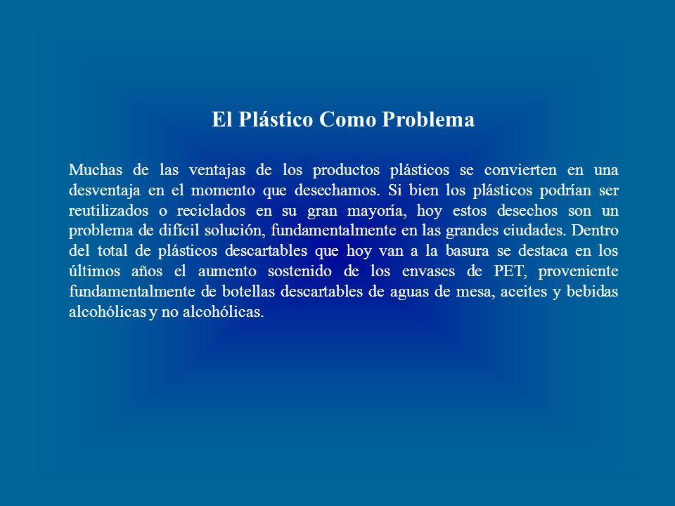 El Plástico Como Problema