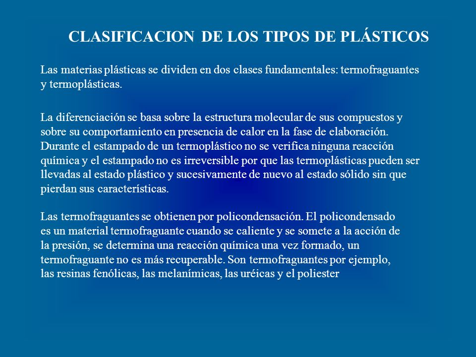 CLASIFICACION DE LOS TIPOS DE PLÁSTICOS