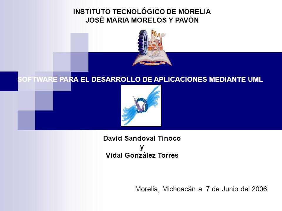 INSTITUTO TECNOLÓGICO DE MORELIA JOSÉ MARIA MORELOS Y PAVÓN
