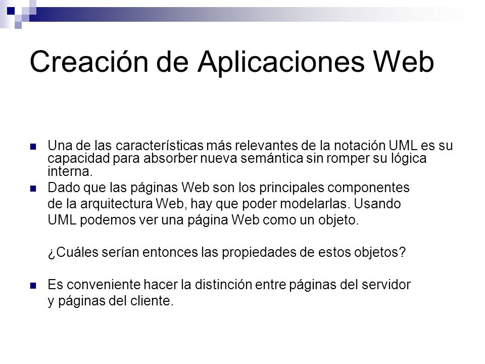 Creación de Aplicaciones Web