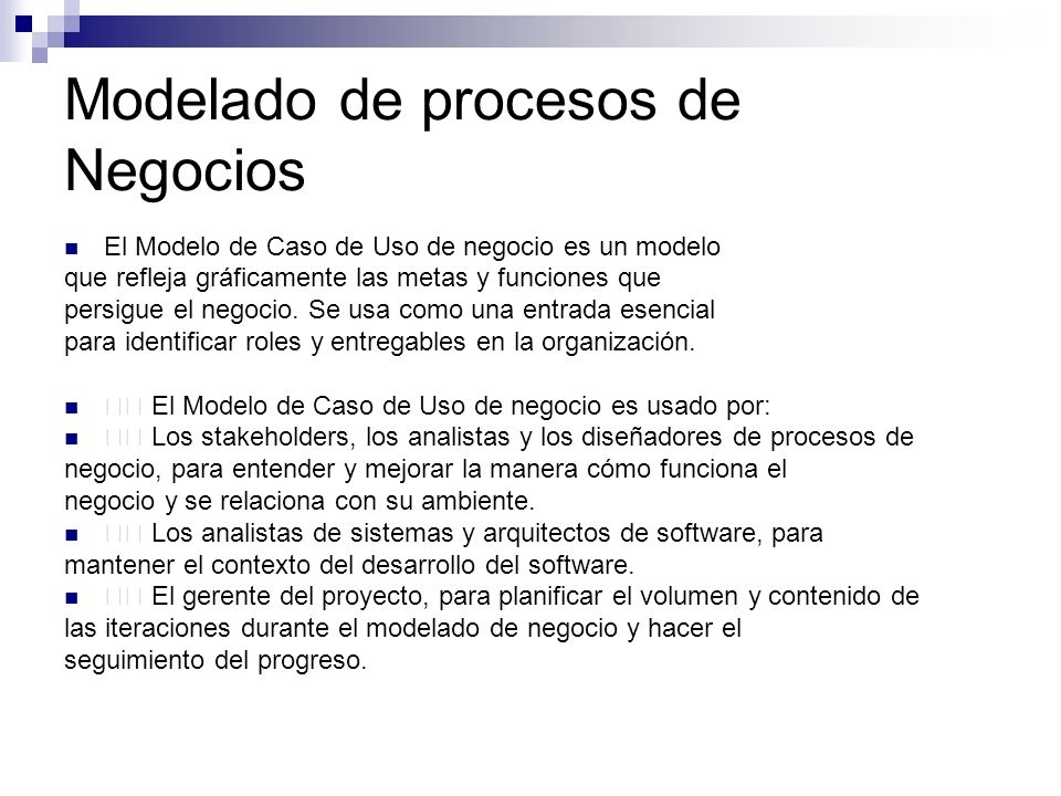 Modelado de procesos de Negocios