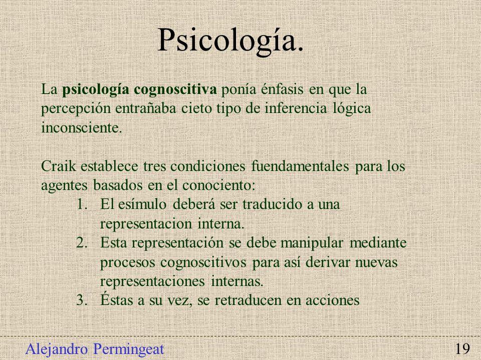 Psicología. La psicología cognoscitiva ponía énfasis en que la percepción entrañaba cieto tipo de inferencia lógica inconsciente.