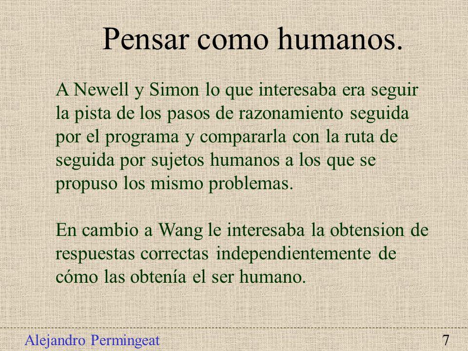 Pensar como humanos.