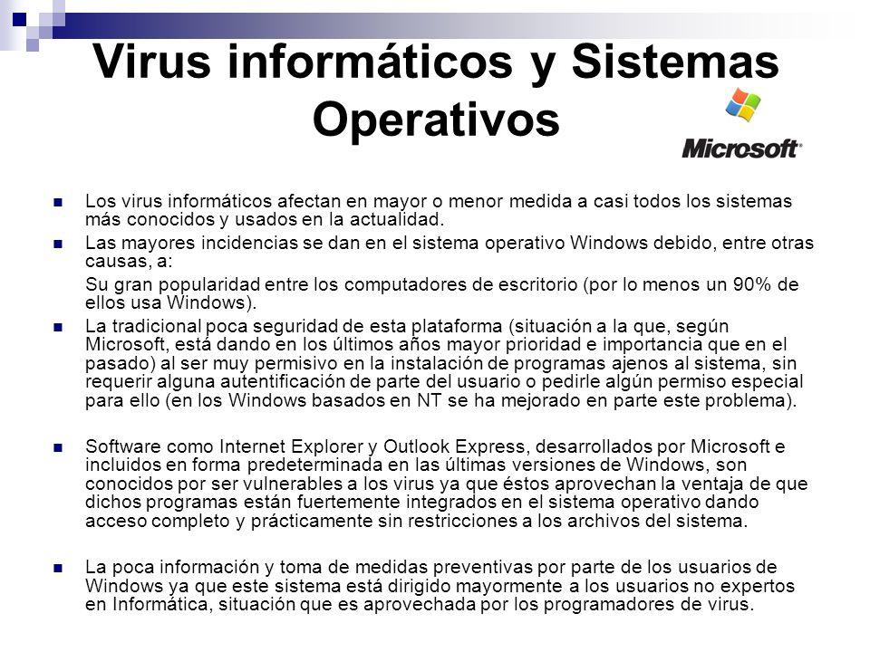 Virus informáticos y Sistemas Operativos