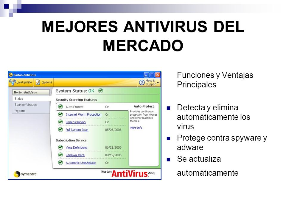 MEJORES ANTIVIRUS DEL MERCADO
