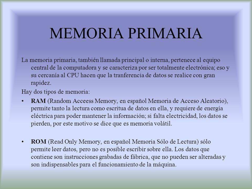 MEMORIA PRIMARIA