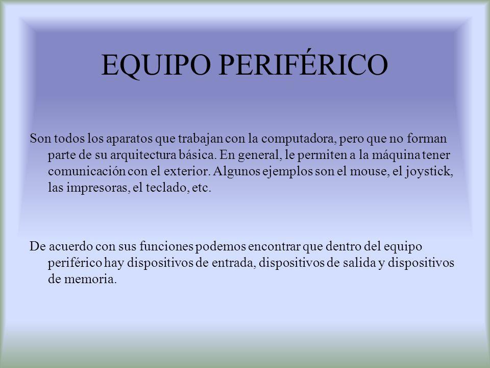 EQUIPO PERIFÉRICO