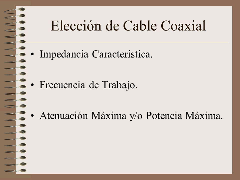 Elección de Cable Coaxial