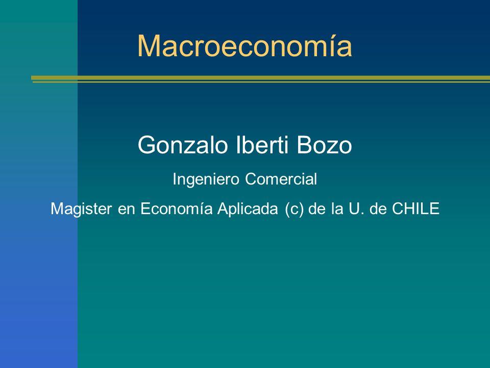 Magister en Economía Aplicada (c) de la U. de CHILE