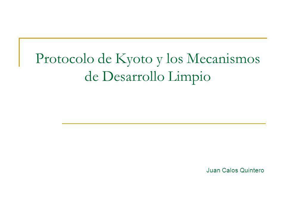 Protocolo de Kyoto y los Mecanismos de Desarrollo Limpio