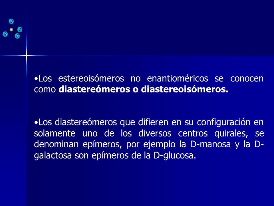 Los estereoisómeros no enantioméricos se conocen como diastereómeros o diastereoisómeros.