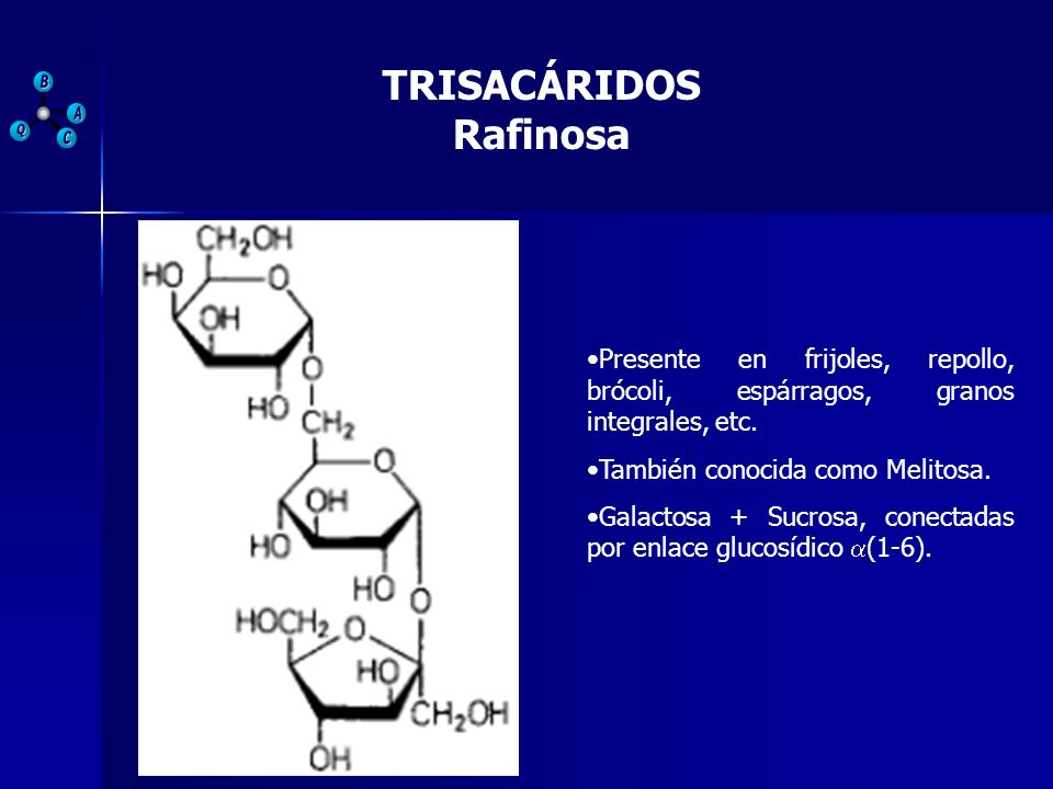 TRISACÁRIDOS Rafinosa