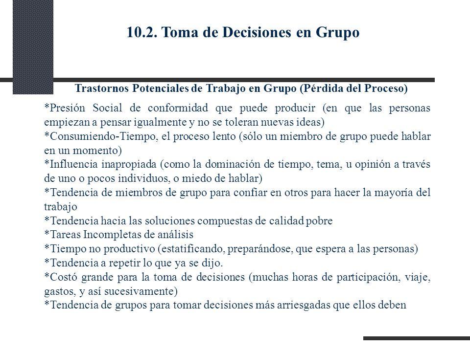 10.2. Toma de Decisiones en Grupo