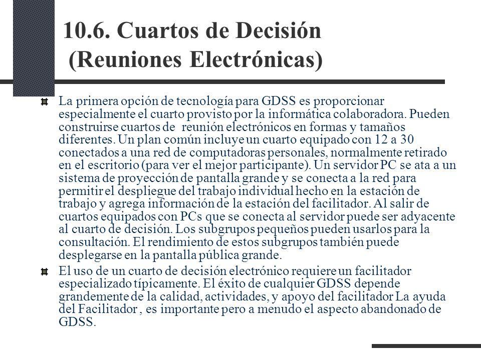 10.6. Cuartos de Decisión (Reuniones Electrónicas)