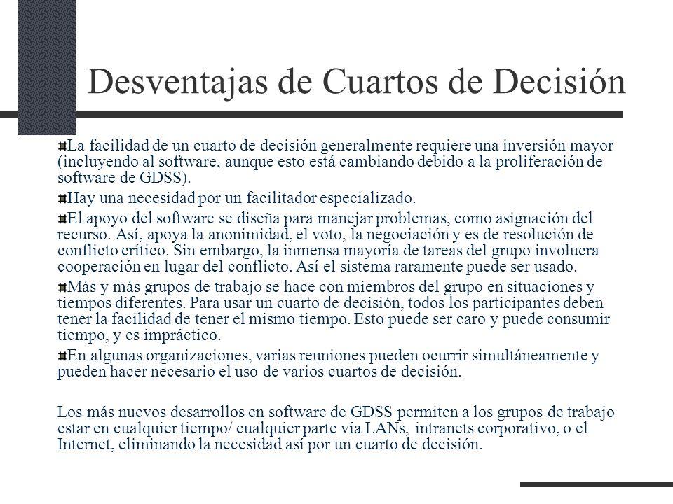 Desventajas de Cuartos de Decisión