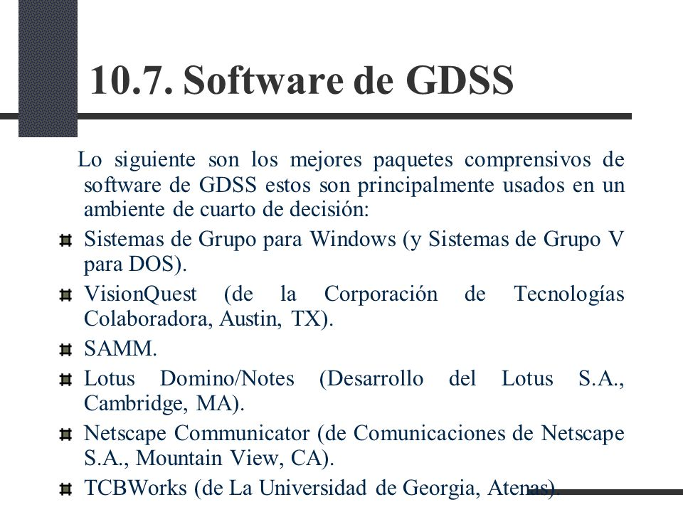 10.7. Software de GDSS