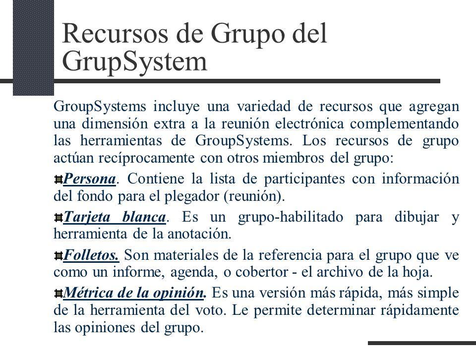 Recursos de Grupo del GrupSystem