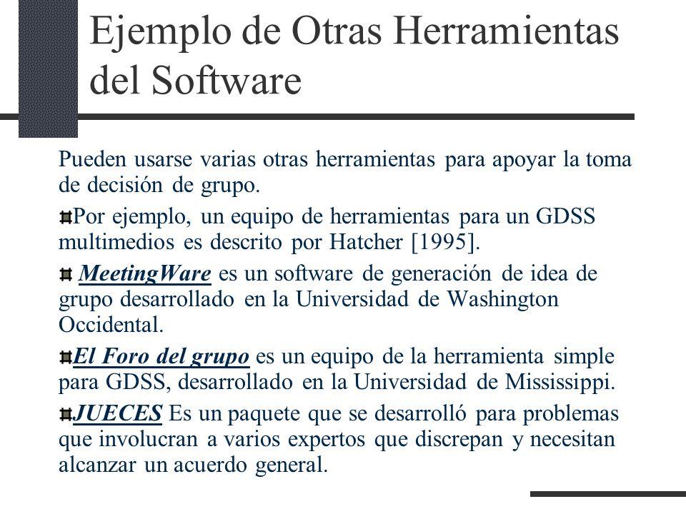 Ejemplo de Otras Herramientas del Software