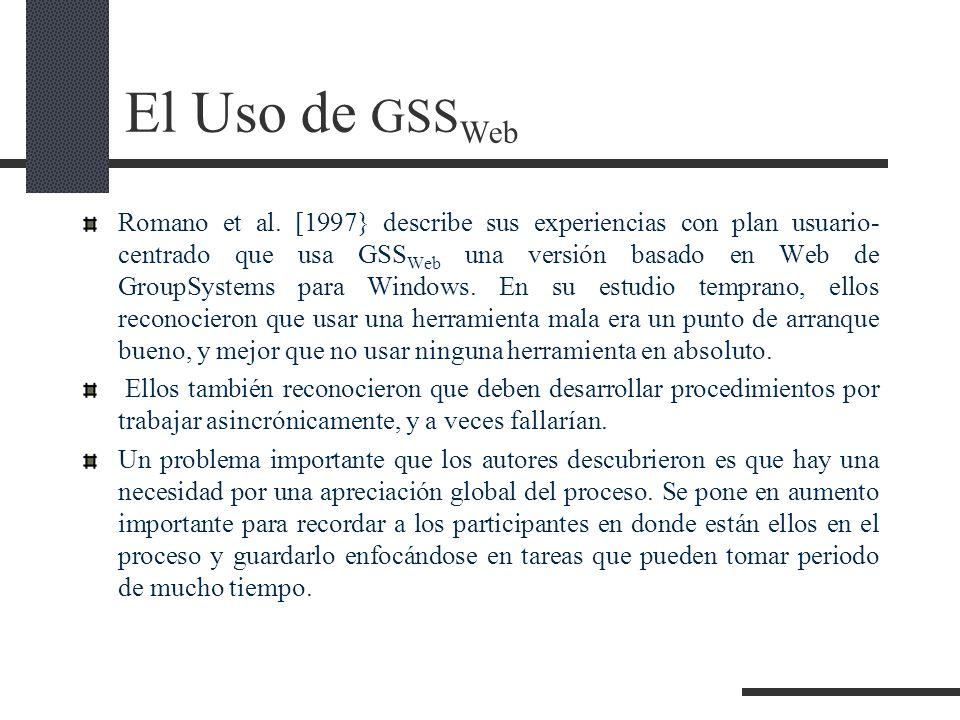 El Uso de GSSWeb