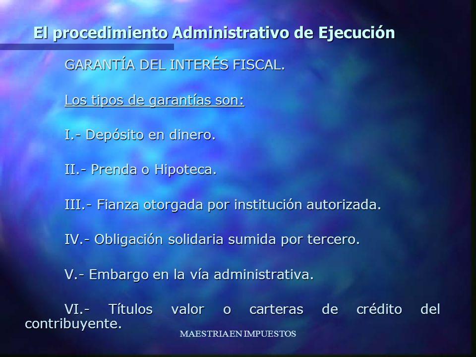 El procedimiento Administrativo de Ejecución