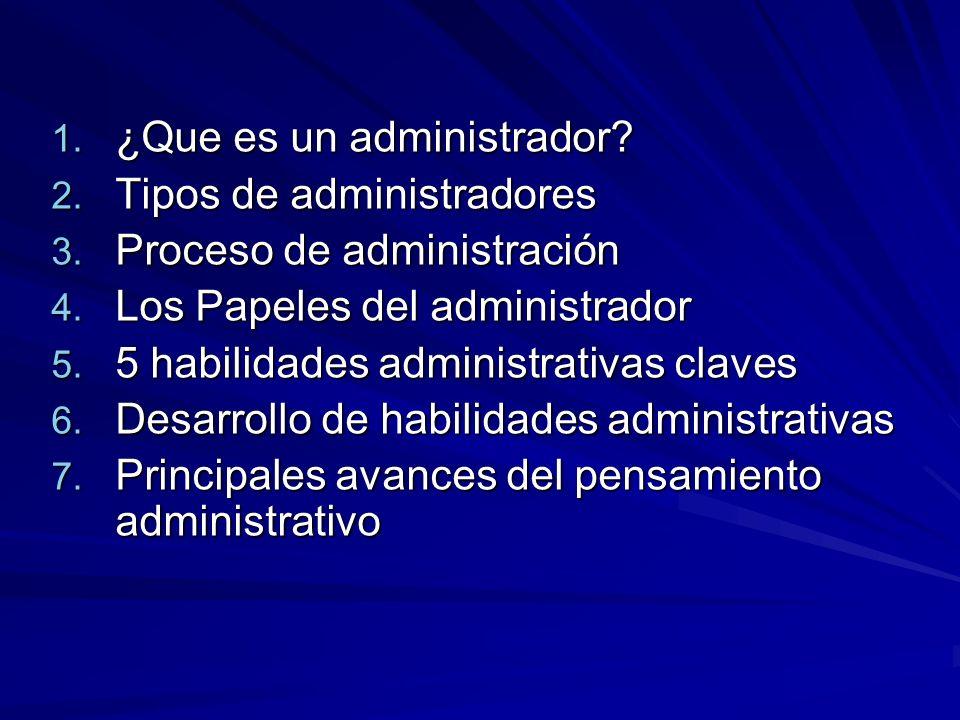 ¿Que es un administrador