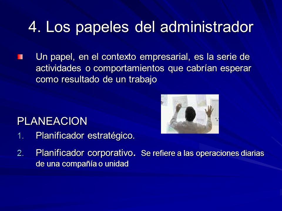 4. Los papeles del administrador