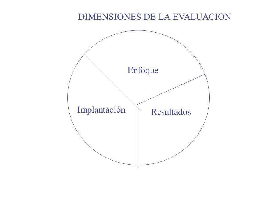DIMENSIONES DE LA EVALUACION