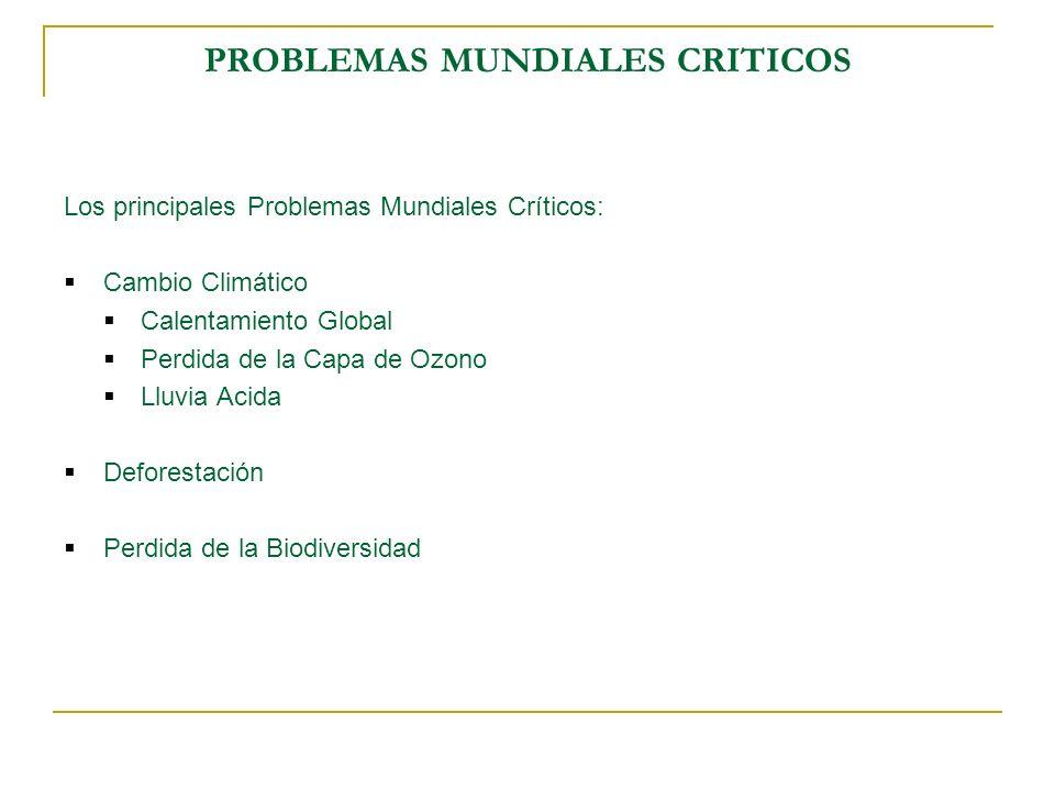 PROBLEMAS MUNDIALES CRITICOS