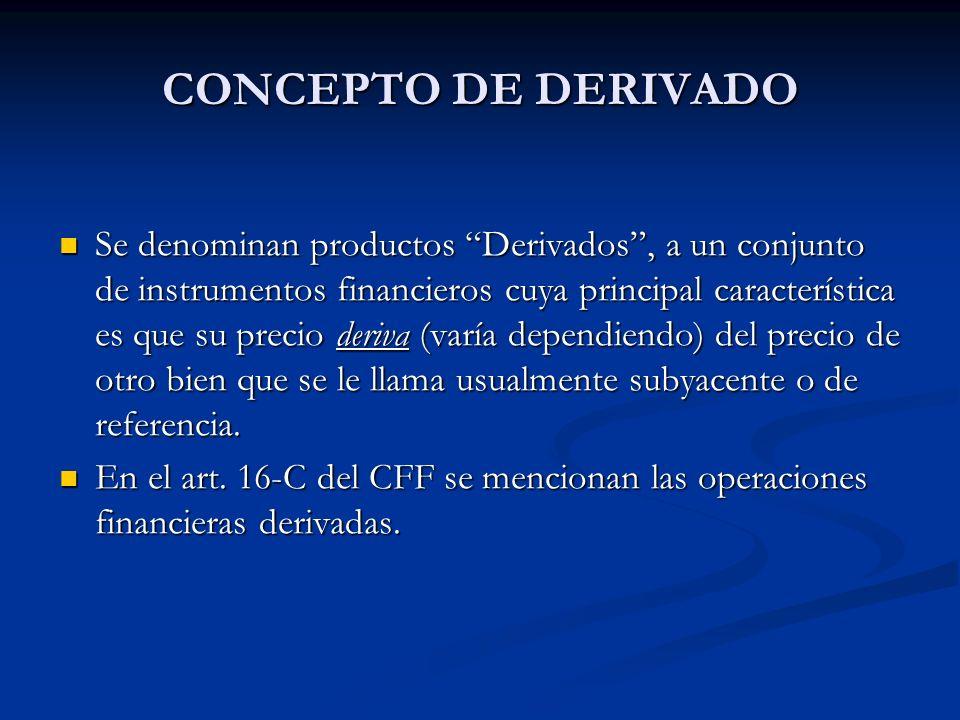 CONCEPTO DE DERIVADO