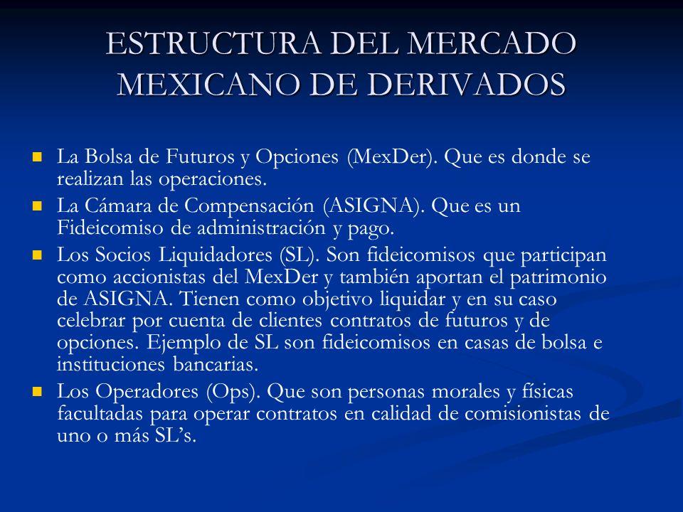 ESTRUCTURA DEL MERCADO MEXICANO DE DERIVADOS