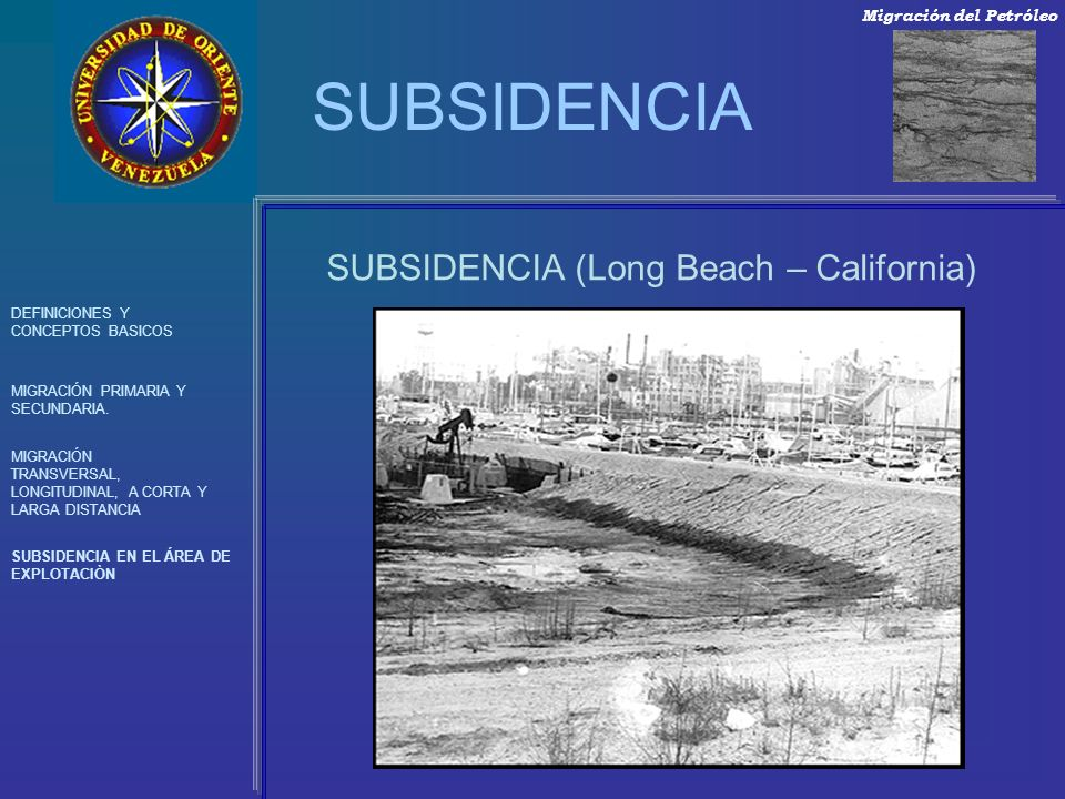 SUBSIDENCIA (Long Beach – California)
