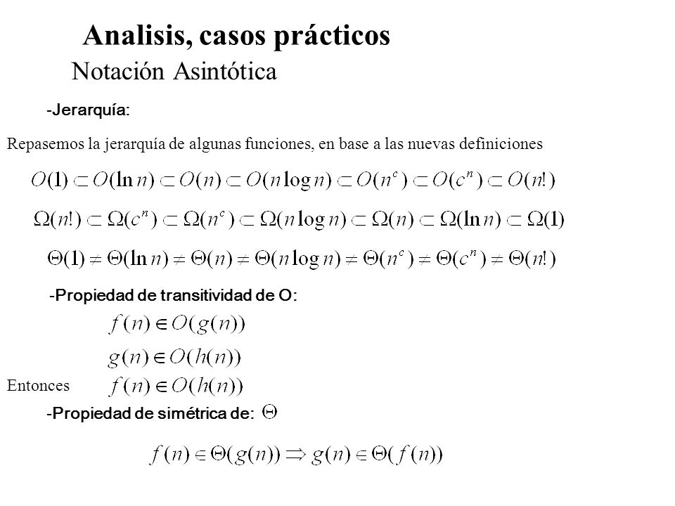 Analisis, casos prácticos
