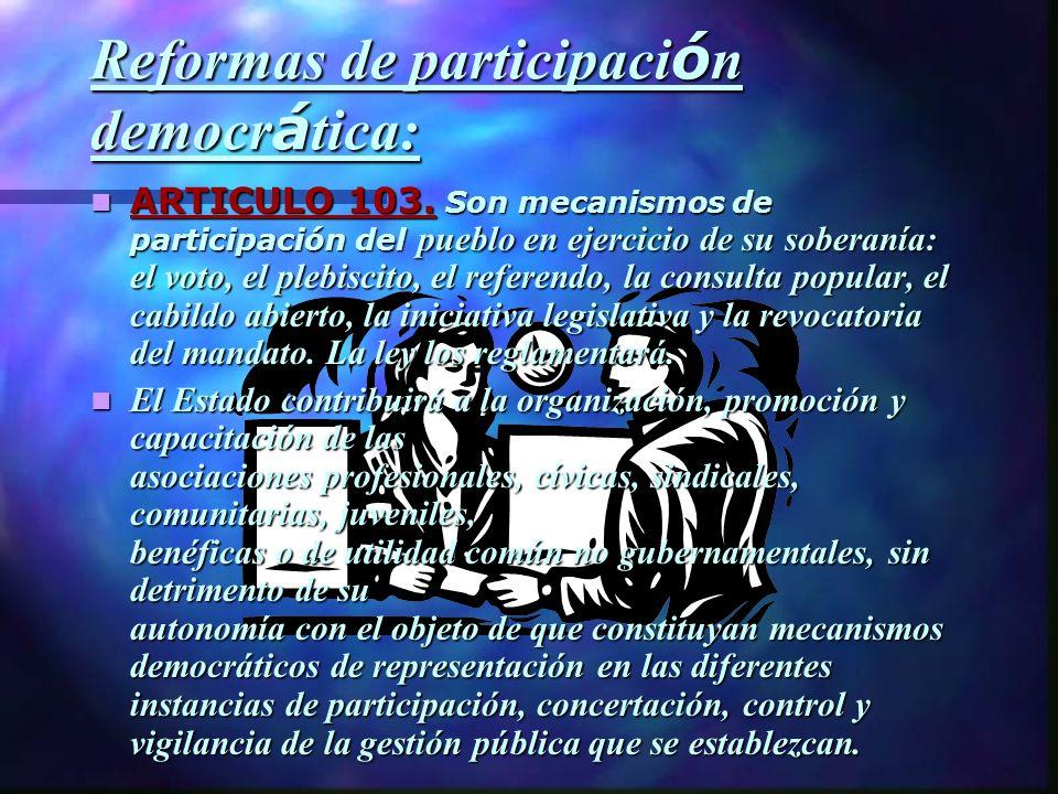 Reformas de participación democrática: