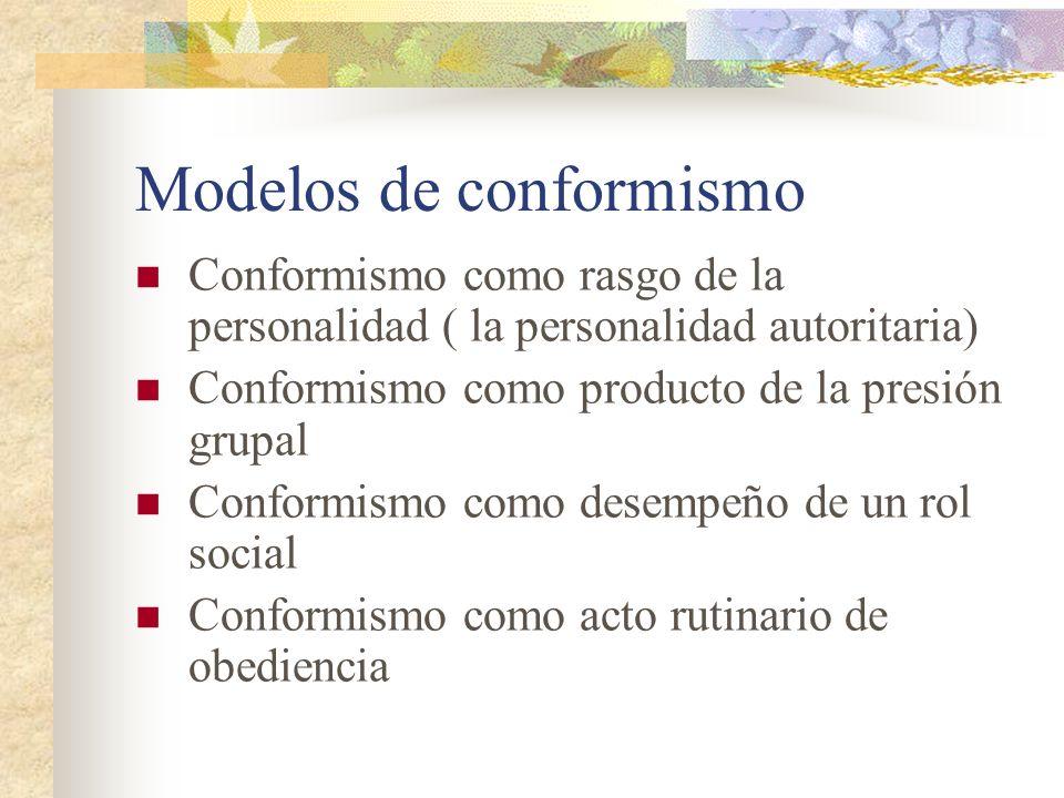 Modelos de conformismo