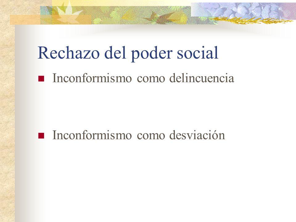 Rechazo del poder social