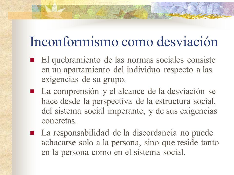 Inconformismo como desviación