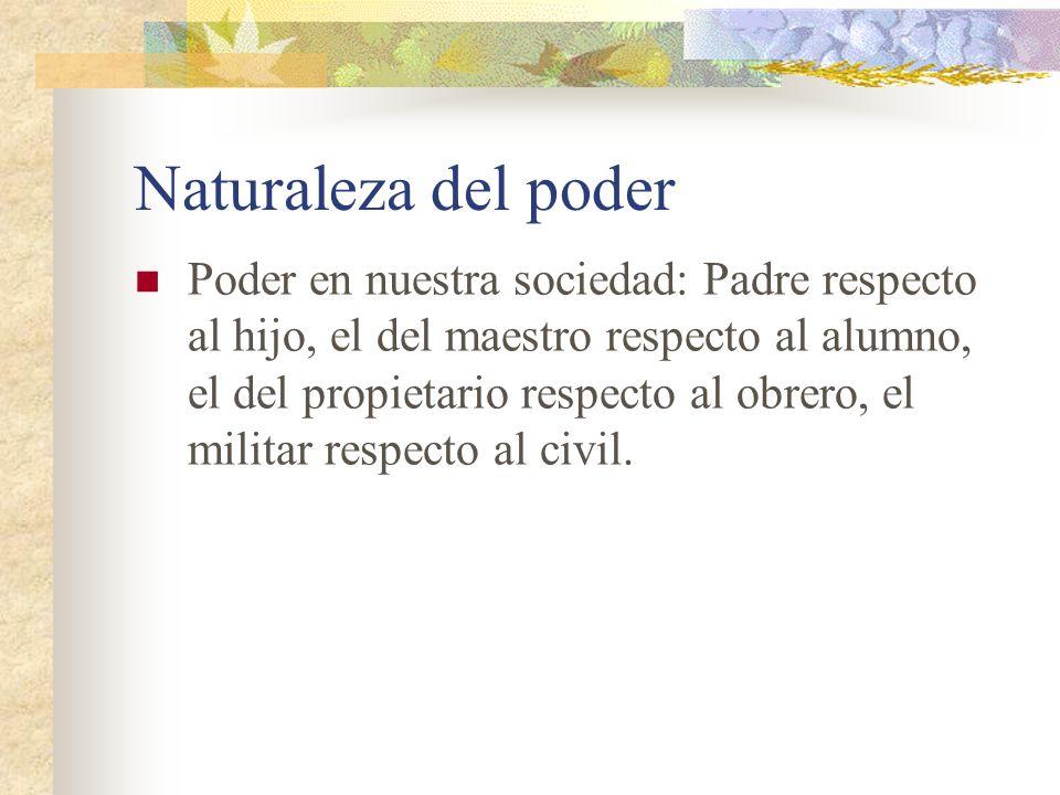 Naturaleza del poder
