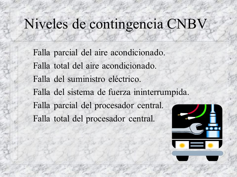 Niveles de contingencia CNBV