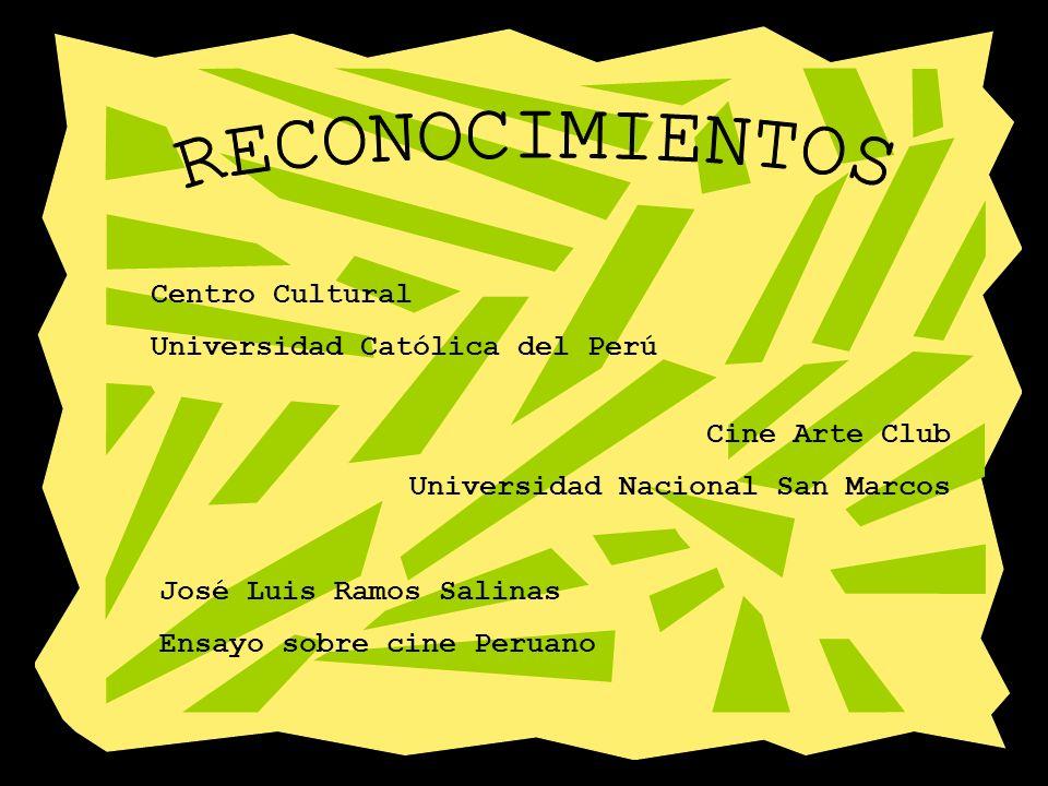 RECONOCIMIENTOS Centro Cultural Universidad Católica del Perú