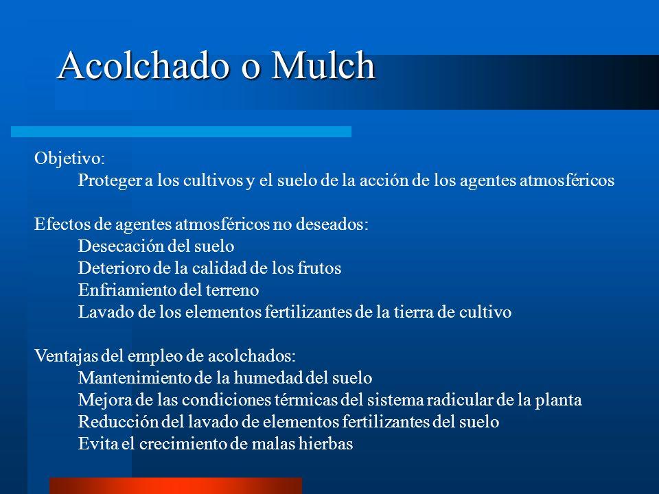 Acolchado o Mulch Objetivo: