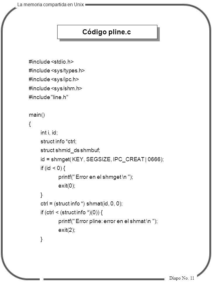Código pline.c #include <stdio.h> #include <sys/types.h>