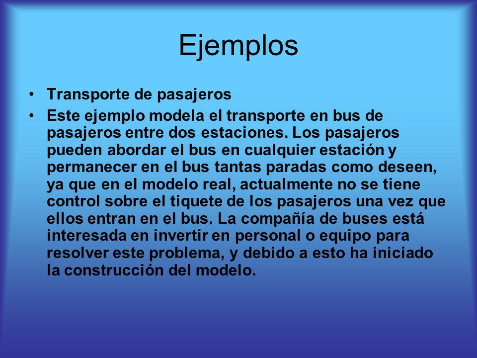 Ejemplos Transporte de pasajeros