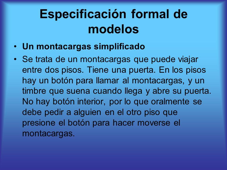 Especificación formal de modelos
