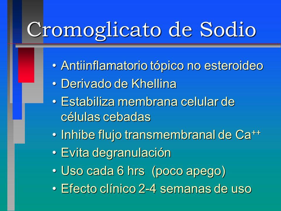 Cromoglicato de Sodio Antiinflamatorio tópico no esteroideo